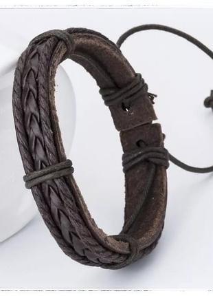 Браслет кожаный на руку (унисекс)