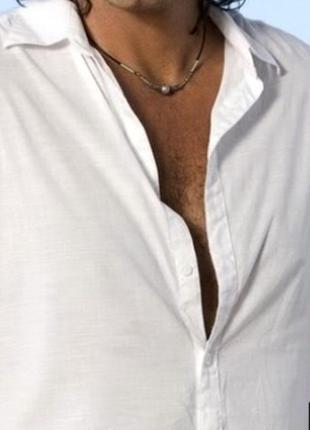 Мужское ожерелье -uni x , на кожаной нити, чокер, оберег. голл...