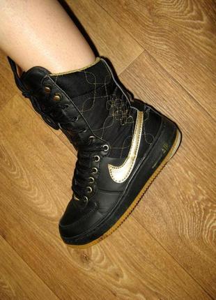 Высокие кроссовки, кожа, утеплитель - набивная шерсть, р. 35, ...