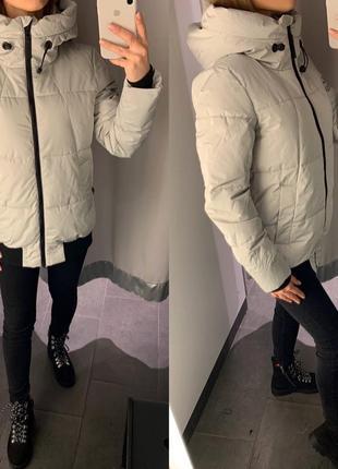 Демисезонная куртка с капюшоном курточка amisu есть размеры