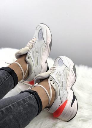 Шикарные кроссовки m2k tekno в сером цвете
