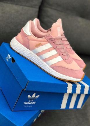 Шикарные женские кроссовки adidas в розовом цвете (весна-лето-...