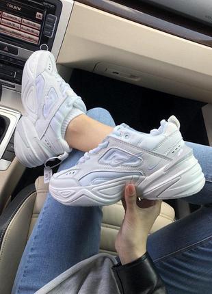 Массивные кроссовки nike m2k tekno в белом цвете (весна-лето-о...