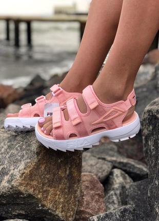 Нереально удобные и красивые женские сандалии fila в розовом ц...