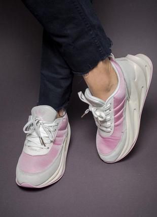 Прекрасные женские кроссовки adidas sharks  в розовом цвете (в...