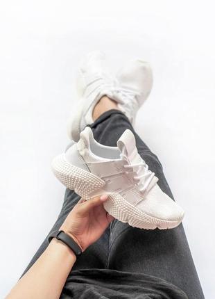 Легкие летные кроссовки adidas в белом цвете (весна-лето-осень)😍