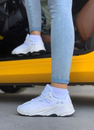 Шикарные кроссовки adidas в белом цвете из кожи (весна-лето-ос...