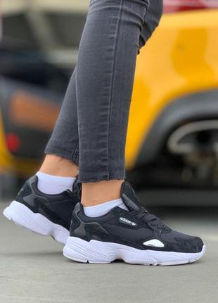 Легкие, спортивные кроссовки adidas в черном цвете (весна-лето...