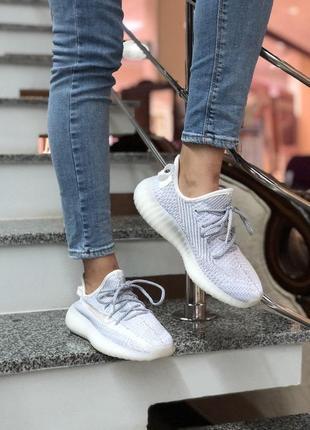 Стильные, светоотражающие кроссовки adidas yeezy (весна-лето-о...