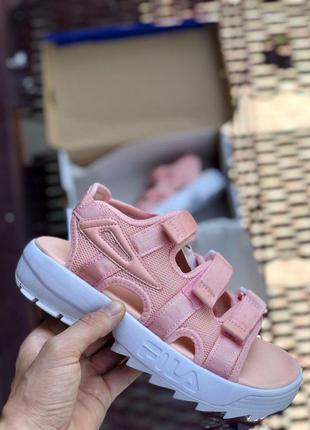 Прекрасные женские сандалии fila в розовом цвете (весна-лето-о...