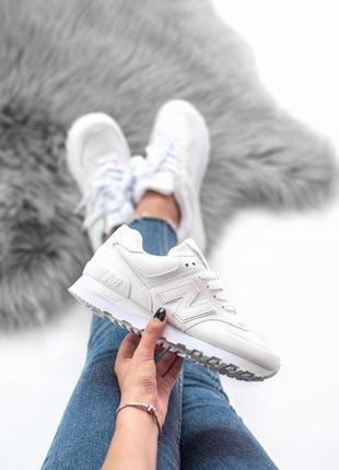 Шикарные кроссовки new balance в белом цвете (весна-лето-осень)😍