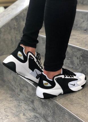 Крутые мужские кроссовки nike в черном-белом цвете (весна-лето...