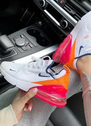 Новинка! крутые кроссовки nike 270 orange/pink (весна-лето-осе...