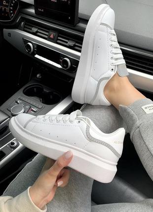 Замечательные кроссовки mcqueen с рефлективом (весна-лето-осень)😍