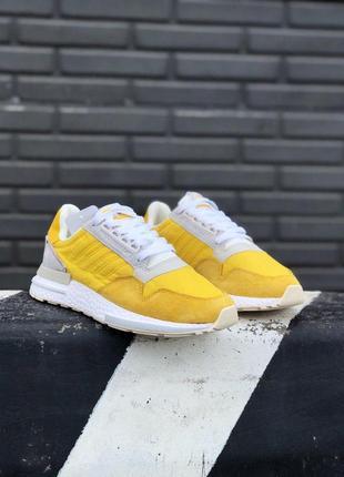 Шикарные кроссовки adidas zx в желтом цвете (весна-лето-осень)😍