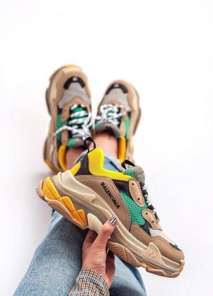 Прекрасные массивные кроссовки с многослойной подошвой (весна-...