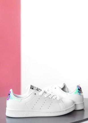 Стильные женские кроссовки adidas stan smith в белом цвете (ве...