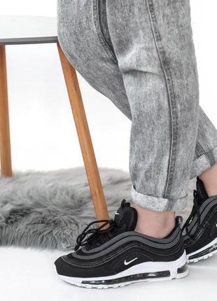 Удобные женские кроссовки nike air max в черном цвете (весна-л...