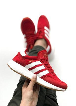 Крутые кроссовки adidas iniki в красном цвете (весна-лето-осень)😍