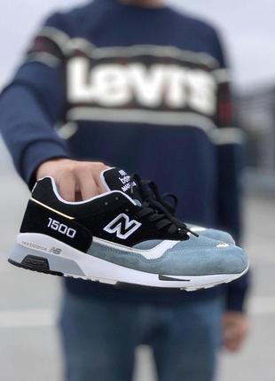 Удобные мужские кроссовки new balance 1500 blue black (весна-л...