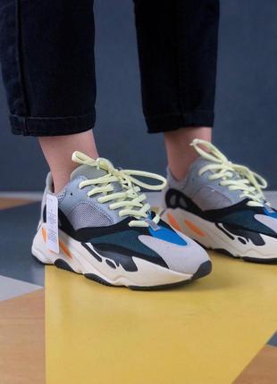 Стильные кроссовки adidas yeezy из замши (весна-лето-осень)😍