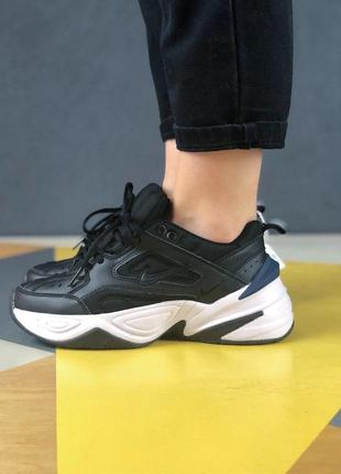 Шикарные массивные кроссовки nike m2k black (весна-лето-осень)😍