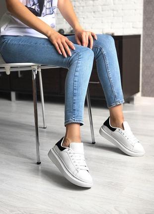 Стильные кроссовки alexander mcqueen в белом цвете (весна-лето...