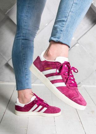 Стильные кроссовки adidas в малиновом цвете (весна-лето-осень)😍