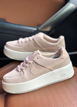 Нереально красивые замшевые кроссовки air force pink (весна-ле...