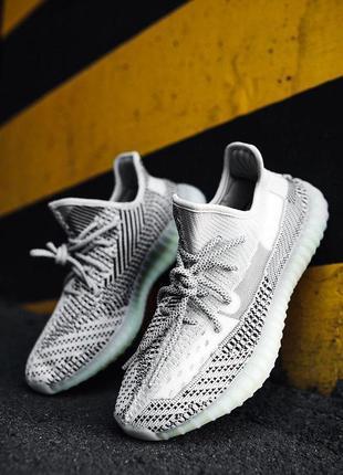 Стильные унисекс кроссовки adidas boost 350 в сером цвете (вес...