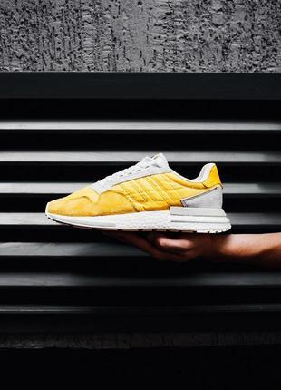 Стильные мужские кроссовки adidas в желтом цвете (весна-лето-о...