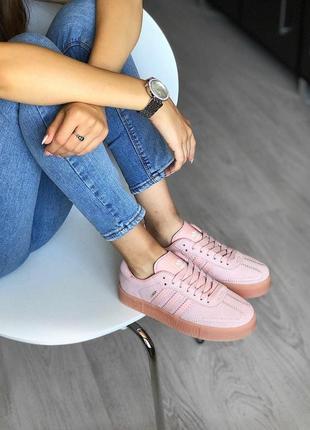 Распродажа! шикарные легкие кроссовки adidas в нежно розовом ц...
