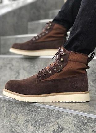 Шикарные мужские ботинки timberland в коричневом цвете (осень-...