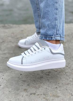 Шикарные кроссовки alexander mcqueen в белом цвете (весна-лето...