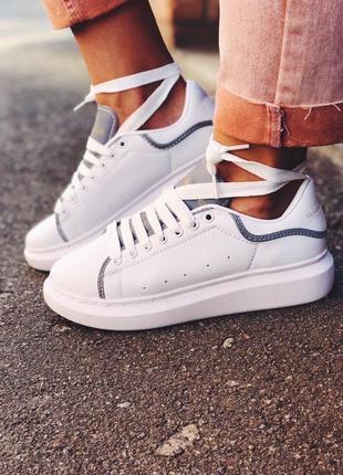 Стильные рефлективные кроссовки alexander mcqueen (весна-лето-...