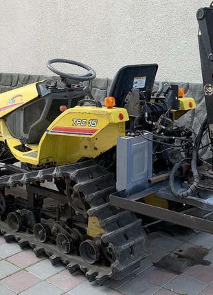 Трактор гусеничный,погрузчик, кран манипулятор Hiab, Iseki TPC 15