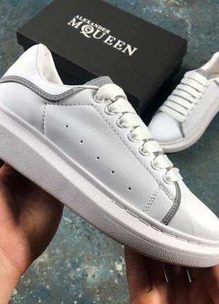 Шикарные кроссовки alexander mcqueen с рефлективными линиями (...