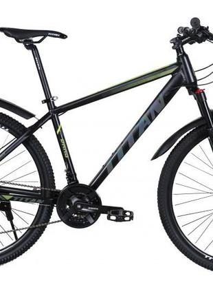"TitanBike Велосипед Titan Drag 29"" 21"" Черный-Зеленый"