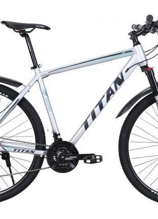"TitanBike Велосипед Titan Drag 29"" 21"" Серый-Бирюза"