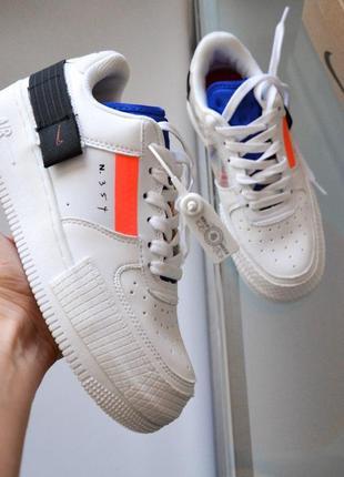 Шикарные женские кроссовки nike air force в белом цвете (весна...