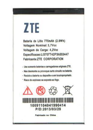 Аккумулятор к телефону ZTE Li3707T42P3h553447 770mAh