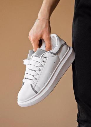 Стильные женские кроссовки alexander mcqueen с рефлективом (ве...