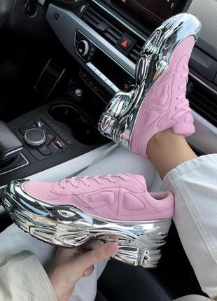 Шикарные кроссовки adidas raf simons ozweego в розовом цвете (...