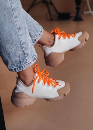Красивые женские кожаные кроссовки (весна-лето-осень)😍