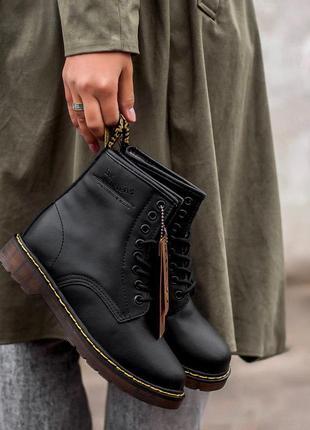 Стильные ботинки dr martens с мехом (осень-зима-весна)😍