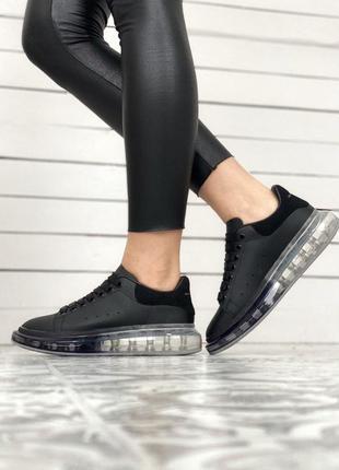 Шикарные кроссовки маквин в новом дизайне с прозрачной подошво...