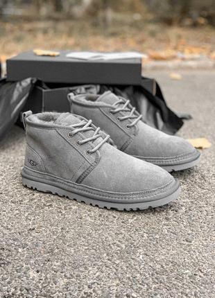 Красивые и теплые мужские ботинки ugg в сером цвете (осень-зим...