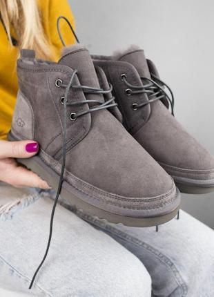 Стильные женские ботинки ugg с натуральным мехом (осень-зима-в...