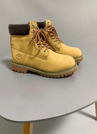 Стильные женские термо ботинки тимберленд в горчичном цвете (о...