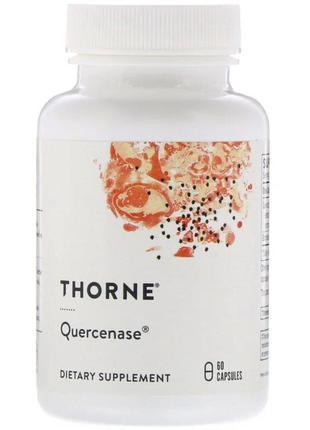 Кверцетин с Бромелайном, Quercenase, Thorne Research, 60 капсул